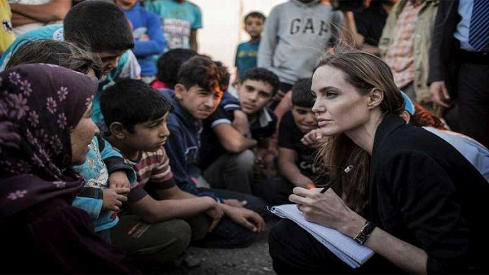Angelina Jolie visits Rohingyas in Cox's Bazar