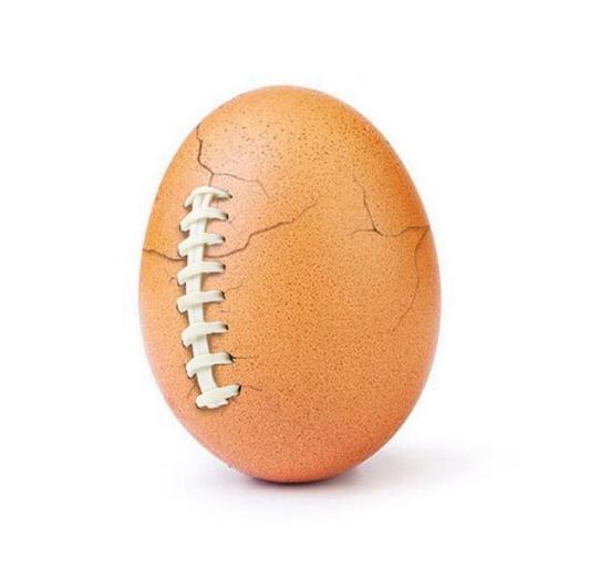 Instagram's most-liked  egg cracks