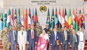 Participants of the National Defence Course-2019 are seen with Speaker Dr Shirin Sharmin Chaudhury