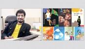 Palash Mahbub's 7 books at book fair
