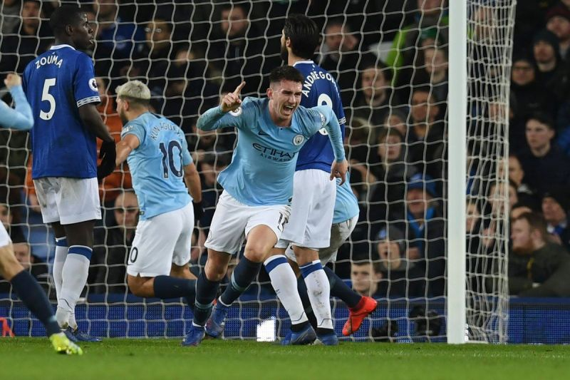 Man City goes top of EPL after beating Everton 2-0