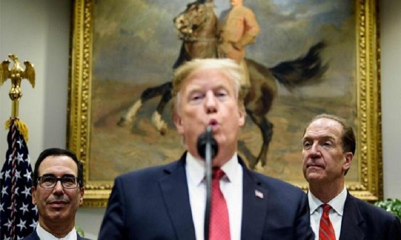 Trump backs World Bank critic Malpass for top job