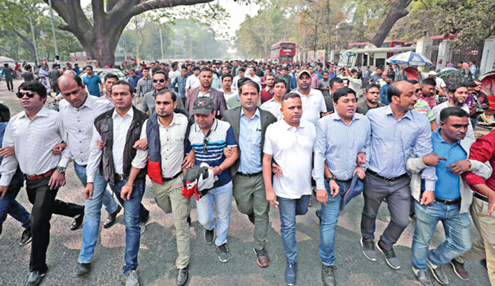 JCD takes out procession at DU after 9 yrs