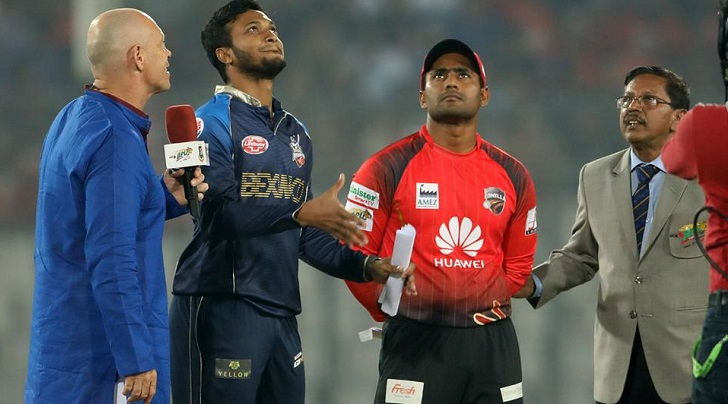 Dhaka Dynamites win toss and opted to bowl against Comilla Victorians