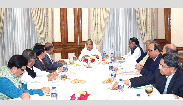 Prime Minister Sheikh Hasina speaks at a joint meeting