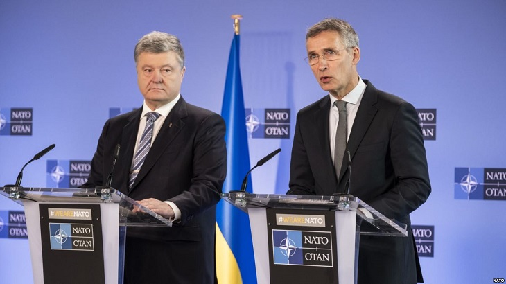 Ukrainian president vows to push for EU, NATO membership