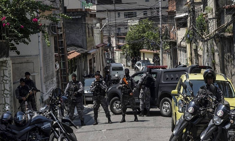 13 suspected drug traffickers killed in Brazil's Rio shootout
