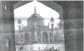 The 'Red Taj Mahal' at the martyrs' cemetery