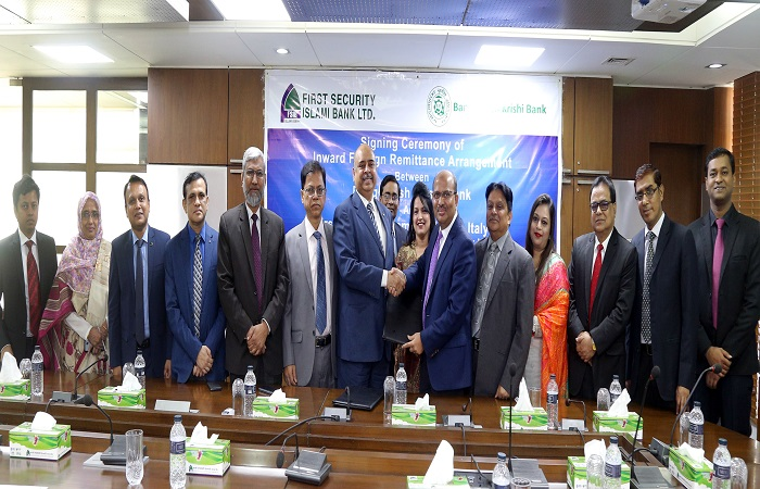 First Security Islami Exchange Italy S. R. L and Bangladesh Krishi Bank Signed Agreement