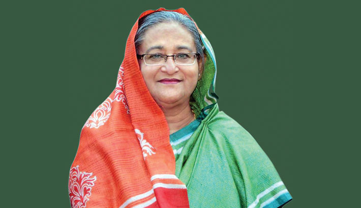South African president greets Sheikh Hasina