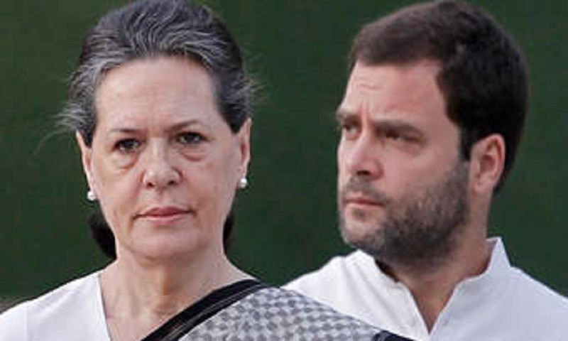 Sonia Gandhi, Rahul join protest against Rafale deal