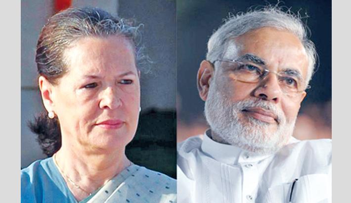 Sonia lambastes Modi govt