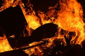 Boy sets mother on fire for smartphone and bike