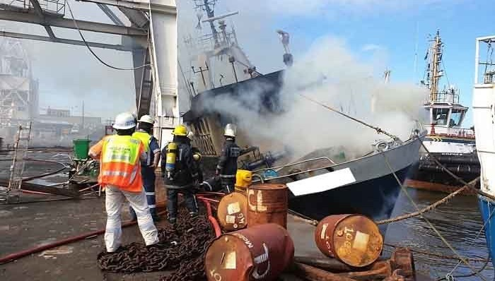 Six killed in fire on fishing vessel in South Africa