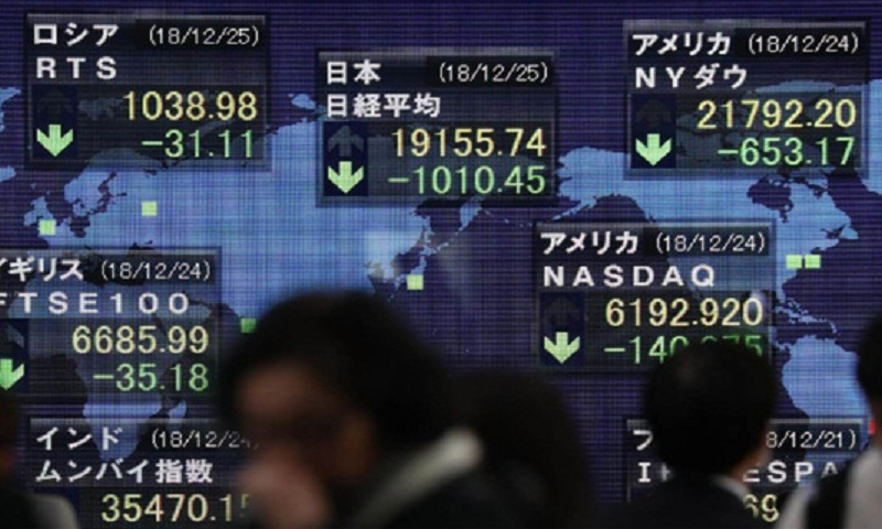 Asian shares drop on trade talks fears, weak US retail