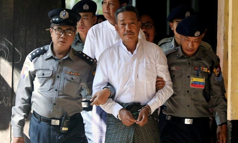 Myanmar court sentences 2 to death for killing Suu Kyi aide