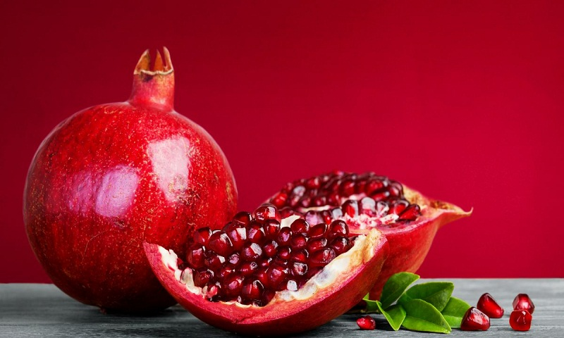 Consume pomegranate in its whole form