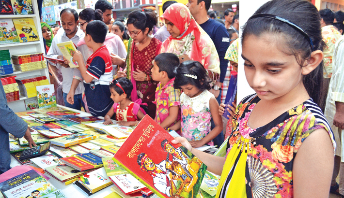 Book fair abuzz with children  on weekend