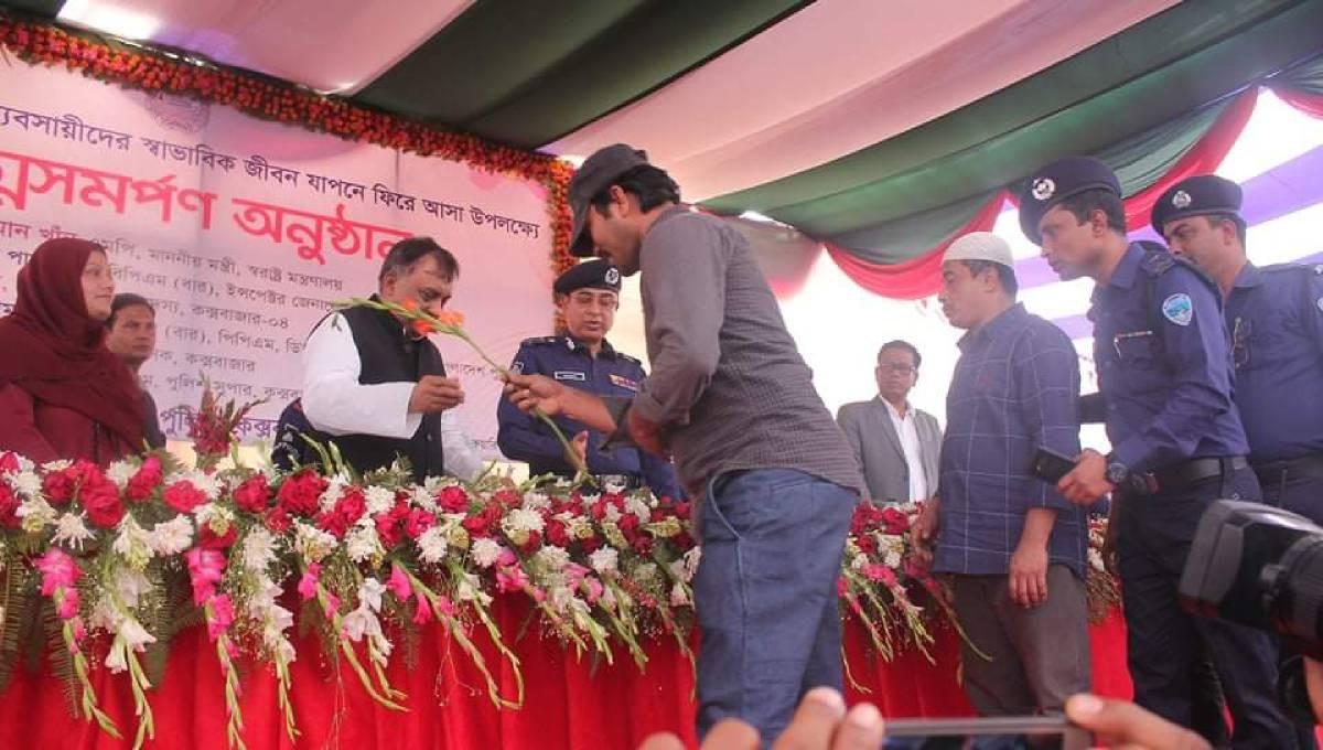102 drug peddlers surrender in Cox's Bazar