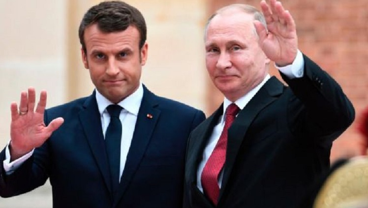 Macron, Putin weigh 'degraded' situation in Syria