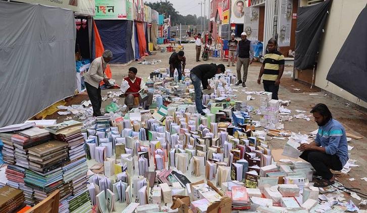 Rain hits Ekushey book fair hard; huge books damaged