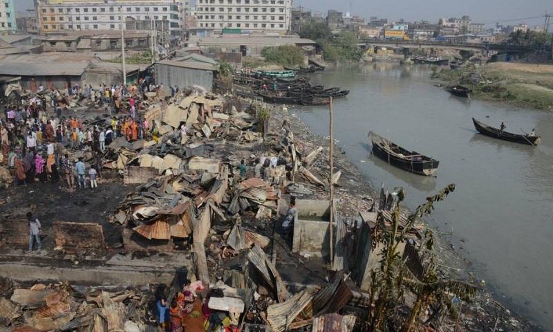 Fire at Chattogram slum, nine dead