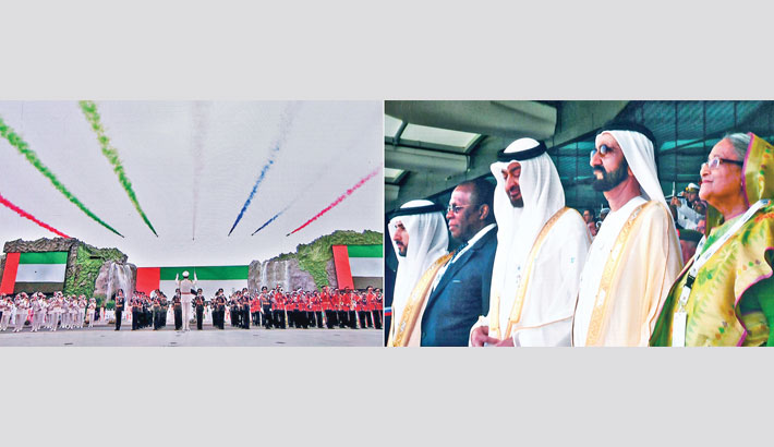 PM visits Int'l Defence Exhibition in UAE