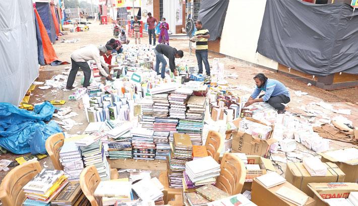 Rain damages huge books