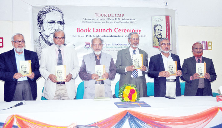 Book launching ceremony on the university campus