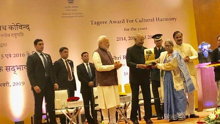 Chhayanaut receives Tagore Award from Indian President