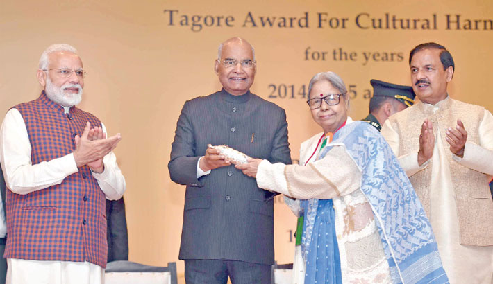 Chhayanaut receives Tagore Award from India