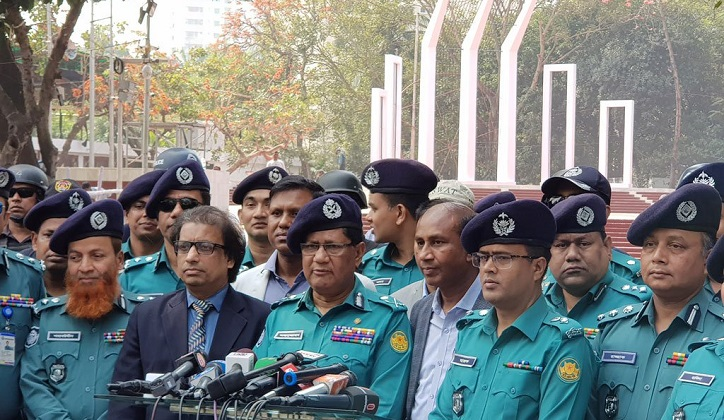 Four-tier security arrangement in Dhaka on International Mother Language Day