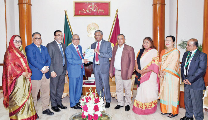 NHRC submits annual report to president