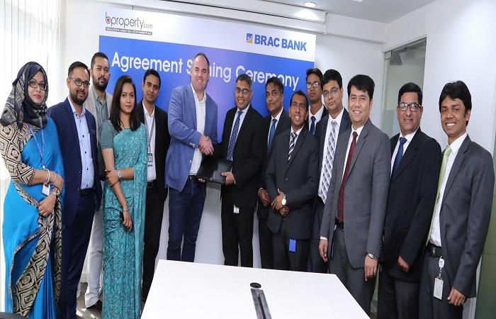 BRAC Bank & BProperty.com sign partnership agreement on House Building Loan