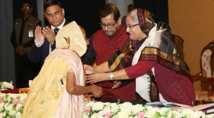 Prime Minister Sheikh Hasina confers Ekushey Padak to the recipients