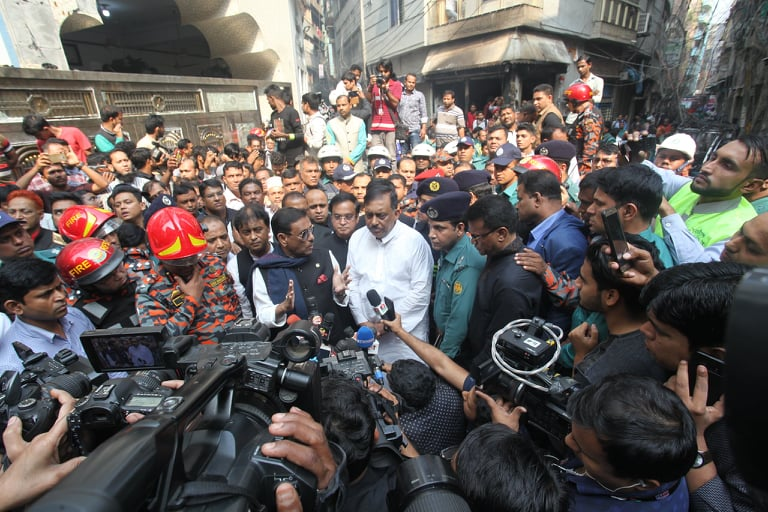 Government to give compensation to Chawkbazar fire victims: Quader