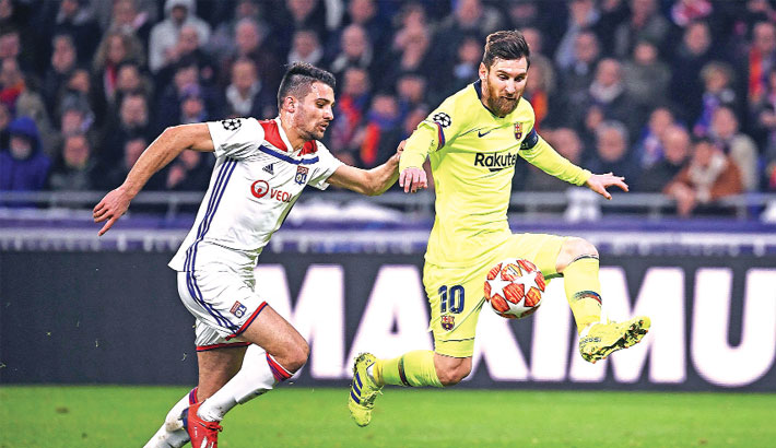 Barca draw at Lyon in UCL last 16