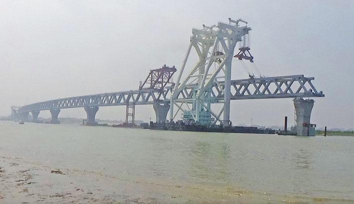 8th span of Padma Bridge installed