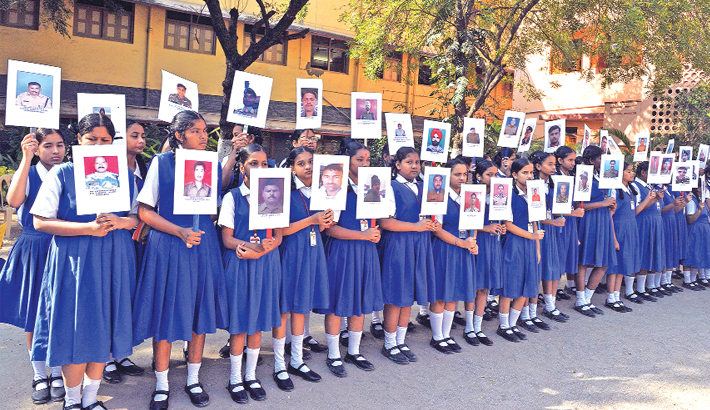 Indian students from the Saint Francis Girls High Schoo