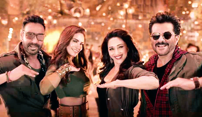 Anil, Madhuri, Ajay's comedy flick opens at Rs 16 crore