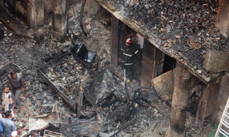 14 party alliance leaders visit Chawkbazar fire spot