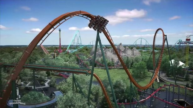 World's tallest, longest and fastest dive rollercoaster!