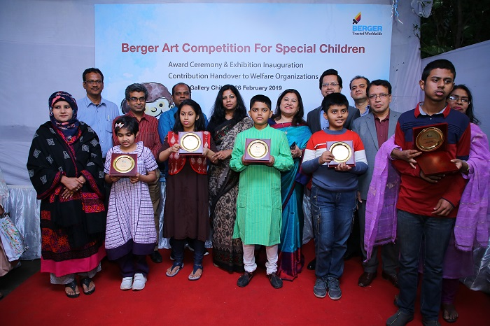 Award ceremony of art competition for special children