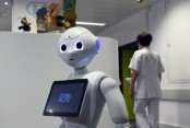 Robot in hospital  to help patients