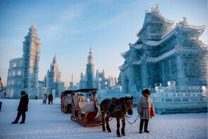 Harbin's snow park transformed into magical real-life ice kingdom