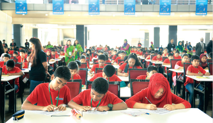 Mental arithmetic competition held