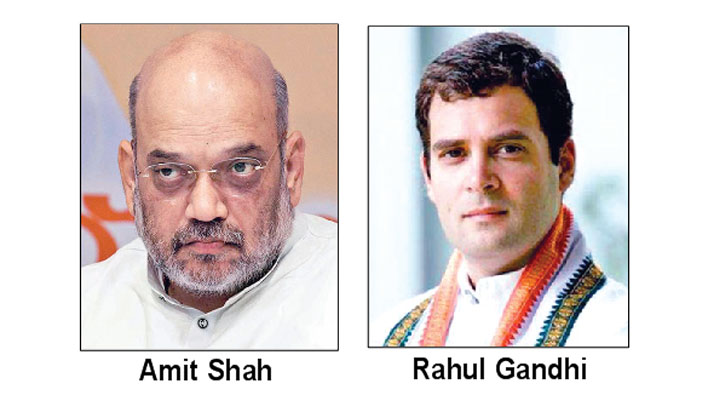 Amit blasts Rahul for raising doubts over airstrike