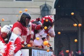 Italians throw fruit for annual Battle of the Oranges (Video)