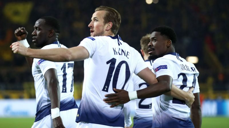 Kane fires Spurs into Champions League quarter-finals