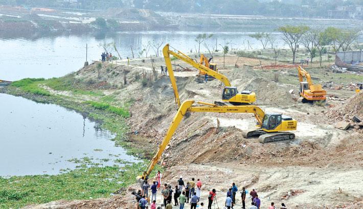 BIWTA digs up 12 acres of Turag land